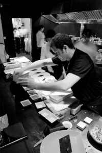 Will Meyrick cooking in Sarong circa 2009