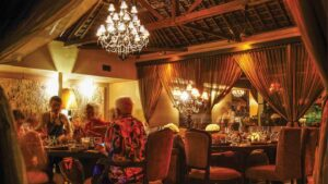 Sarong Bali main dining area, dinner time